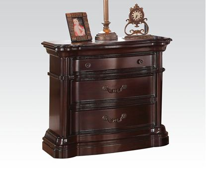 Picture of Veradisia Dark Cherry Marble Top Nightstand