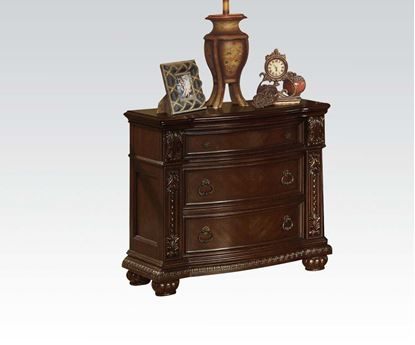 Picture of Anondale Traditional Cherry Finish 3 Drawer Nightstand
