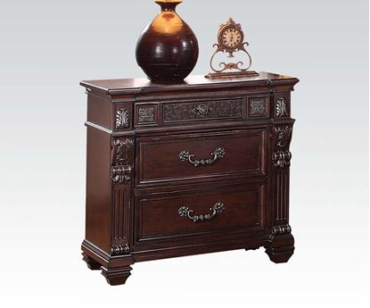 Picture of Vevila Cherry Brown Finish Wood Nightstand