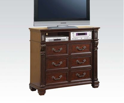 Picture of Vevila Cherry Brown Finish Wood Media Chest