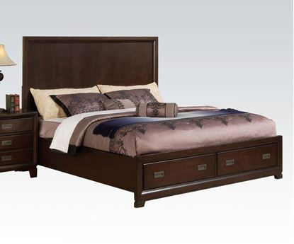 Picture of Bellwood Transitional Cappuccino StorageQueen Bed