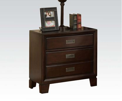 Picture of Bellwood Transitional Cappuccino Storage Nightstand