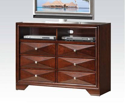 Picture of Modern Windsor Merlot Media Chest