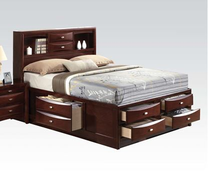 Picture of Ireland Espresso Transitional Eastern King Platform Bed