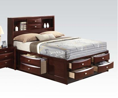 Picture of Ireland Espresso Transitional Queen Size Platform Bed