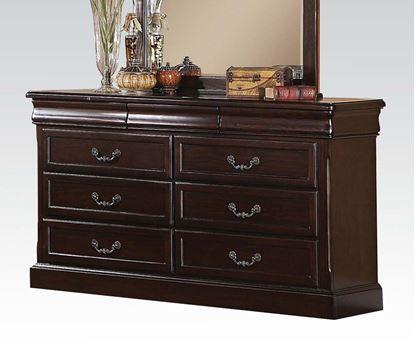 Picture of Roman Empire II Dark Cherry 9 Drawers Dresser