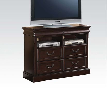 Picture of Roman Empire II Dark Cherry Carving Media Chest with Drawers