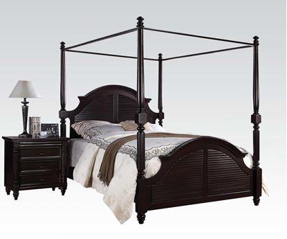 Picture of Charisma Dark Espresso Finish Queen Size Canopy Bed