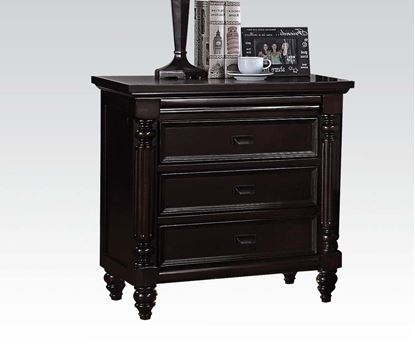 Picture of Charisma Dark Espresso Finish 3 Drawers Nightstand