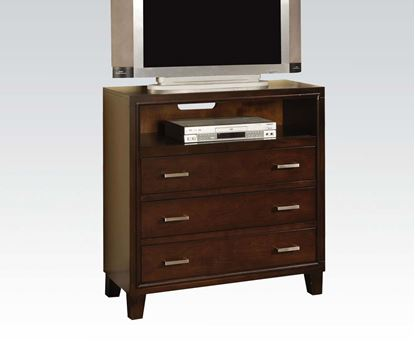 Picture of Tyler Contemporary Espresso Finish Media Drawer Chest