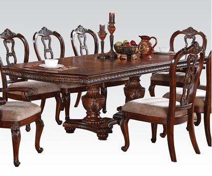 Picture of Nathaneal Dining Table in Tobacco Cherry