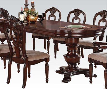 Picture of Gwyneth Double Pedestal Cherry Dining Table