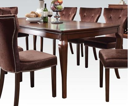Picture of Kingston Dining Table in Brown Cherry Finish