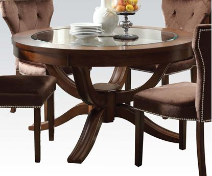 Picture of Round Glass Top Transitional Kingston Dining Table