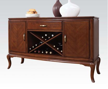 Picture of Kingston Brown Cherry Finish Server