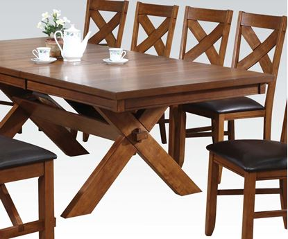 Picture of Appollo Distressed Oak Finish Dining Table