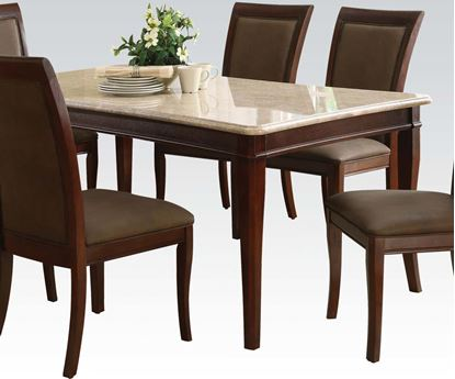 Picture of Britney Dining Table with White Marble Top