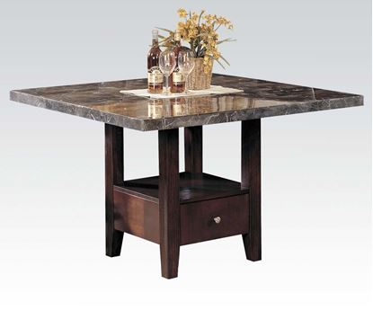Picture of Britney Espresso Marble Top Dining Table
