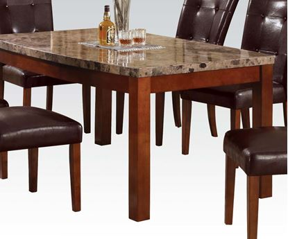 Picture of Britney Brown Marble Top Dining Table with Cherry Brown Leg