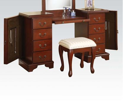 Picture of Louis Philip Cherry Vanity Set with Bench