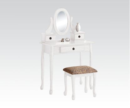 Picture of White Vanity Set