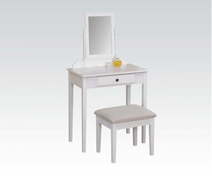 Picture of Jamy White Vanity Set with Mirror and Mirror