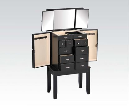 Picture of Tiren Jewelry Armoire in Black   Master Room Furniture