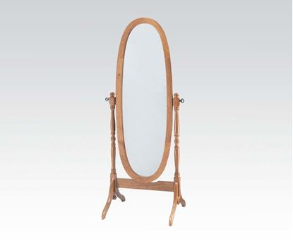 Picture of Fynn Oak Finish Frame Cheval Mirror