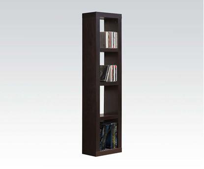 Picture of Modern Espresso Finish 4 Shelf Bookcase