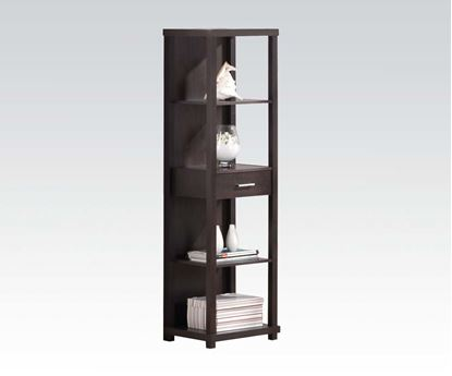 Picture of Hinto Shelf Cabinet with Drawer in Espresso Finish