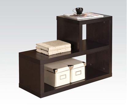 Picture of Carmeno Bookshelf   L Shape Shelf in Espresso
