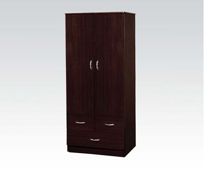 Picture of Contemporary Espresso Yorktown Wardrobe