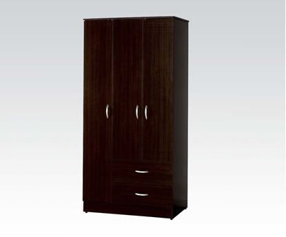 Picture of Classic Espresso Wardrobe with 3 Cabinets and 2 Drawers