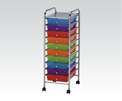 Picture of Furniture  Palash Storage Cart with 8 Drawers in Chrome