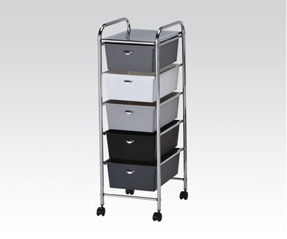 Picture of Contemporary Storage Cart w/3 drawers