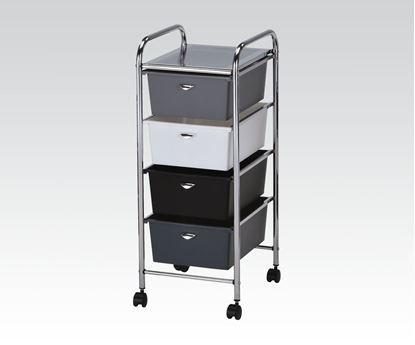 Picture of Storage Cart w/4 drawers Mobile Organizer