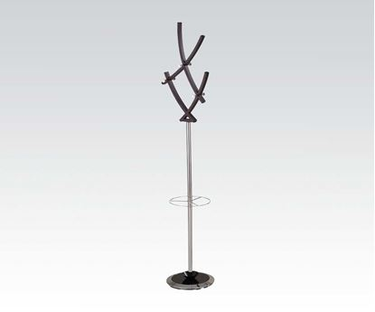 Picture of Gyles Chrome Plated / Brown Finish Coat Rack
