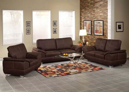Picture of Corliss Dark Brown Living Room Set